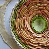 Rose Apple Pie With Bourbon Glaze