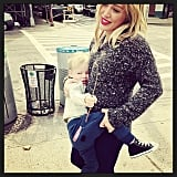 According to Hilary Duff, nine blocks is too many to be lugging Luca around without a stroller.