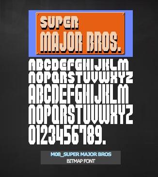 Vintage Video Game Fonts
