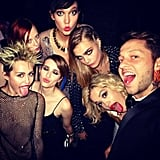 Miley Cyrus, Emma Roberts, Rita Ora, Cara Delevingne, and more got the Met Gala afterparty started. Source: Instagram user derekblasberg
