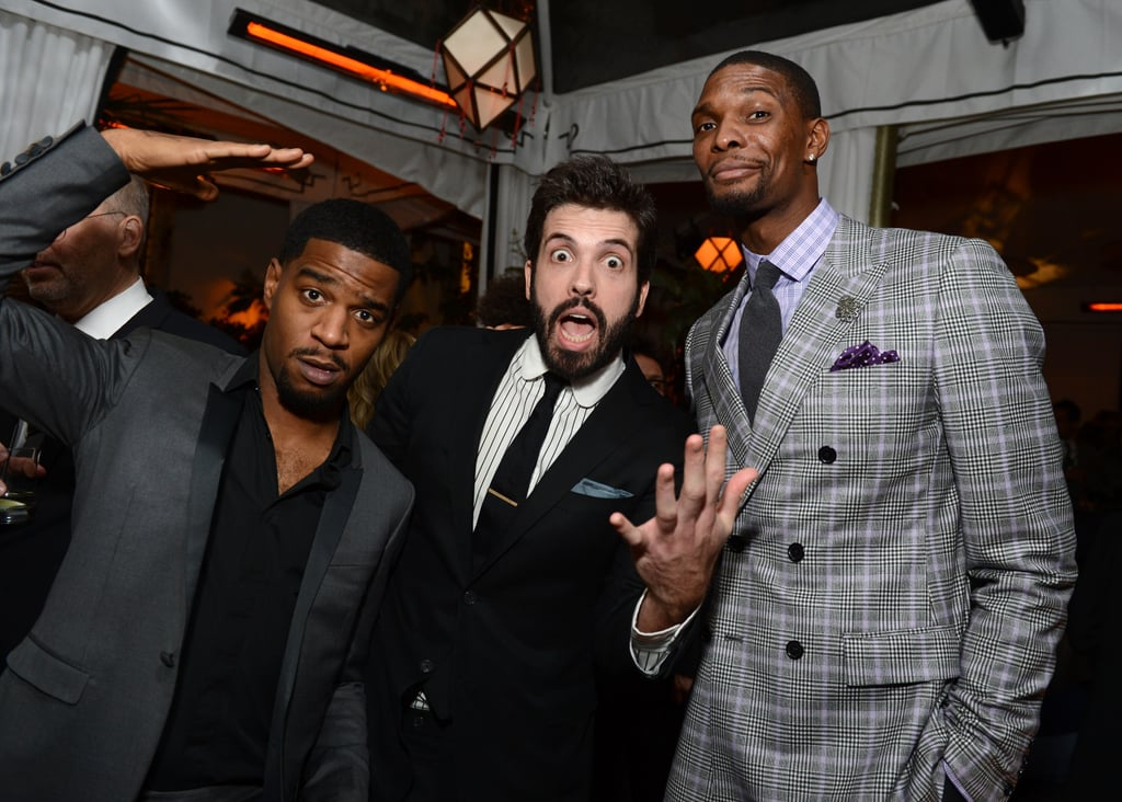 Kid Cudi, Will Welch, and Chris Bosh joked around together.