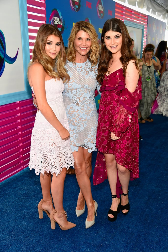 Lori Loughlin and Her Daughters at 2017 Teen Choice Awards