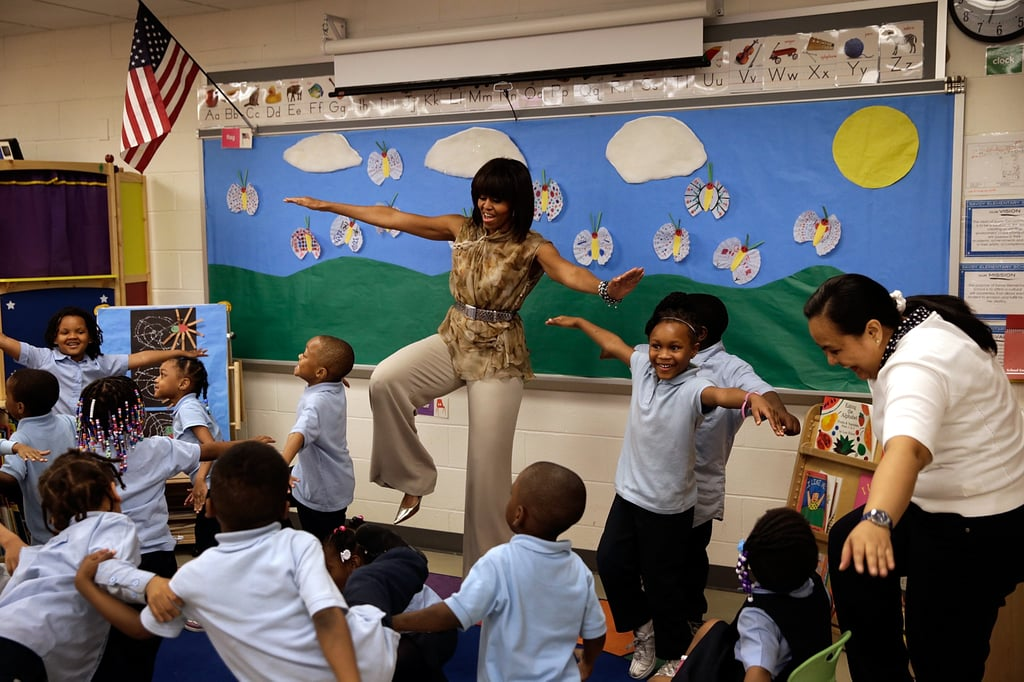 Innovative Classroom Yoga ~ Michelle obama showed off her yoga skills