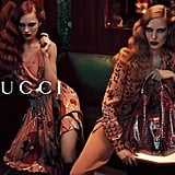 Fierce prints and even fiercer stares paint a moody picture for Gucci's Fall 2012 ads.