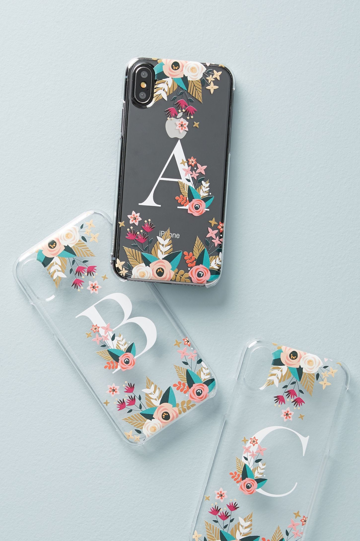 official photos 759e1 01086 Casetify Floral Monogram iPhone X Case | 17 Thoughtful Gift Ideas ...