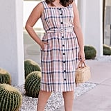 Gal Meets Glam Collection Peyton Belted Linen Blend Sundress