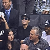 Justin Bieber sat in the stands at the Kings game.