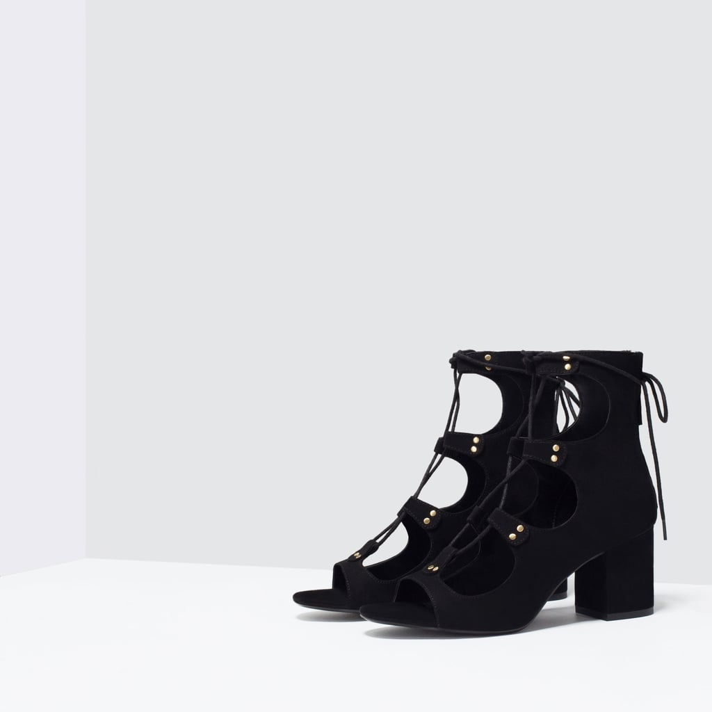 f32f252479e1 Zara Lace-Up Block Heel Sandal ( 80)