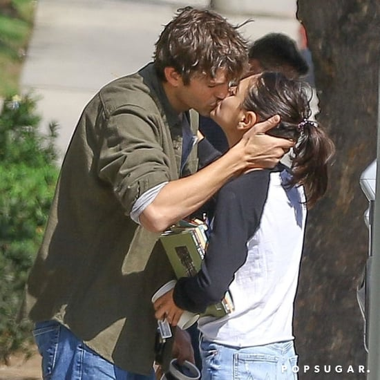 Ashton Kutcher and Mila Kunis Kissing in LA October 2018