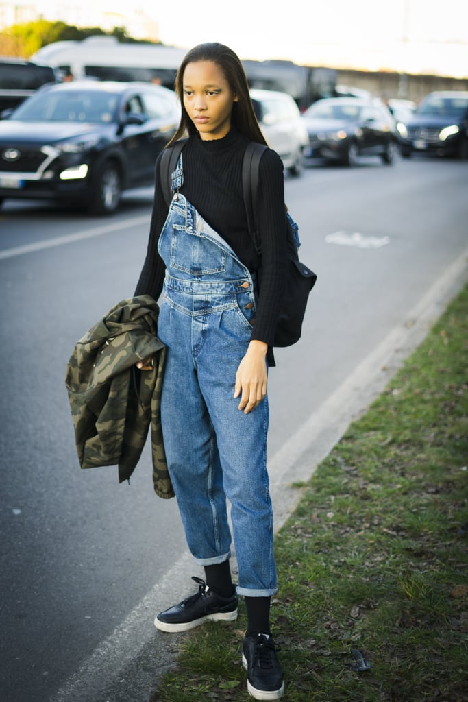 I know people have strong opinions about overalls, but let me make it clear that I'm definitely an overalls person. I think they're incredibly fun to wear in the Winter with clunky combat boots and an oversize sweater spilling out, and they're equally stylish to wear in the warm months with wrap-around heels and a cute, simple t-shirt. And the moment I spotted the Old Navy Stonewashed Jean Overalls ($40, originally $50), I knew they belonged in my closet. The overalls have a slight acid wash, giving them an immediate '80s vibe, and the leg is slim and super flattering. I love the single pocket in the front, and I can totally envision wearing a belt bag in the belt loops of this. Ahead, see how other women are styling their overalls, and be sure to add them to your denim rotation while you can.       Related:                                                                                                           Old Navy Has Over 800 New Arrivals, But We Can't Stop Thinking About These Coloured Jeans