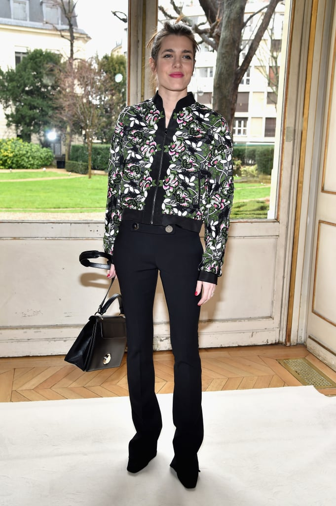 At the Giambattista Valli show during Paris Fashion Week in March 2017.