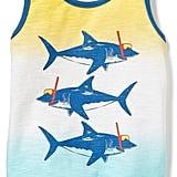 Shark Graphic Ombré Tank