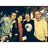 James Phelps, Bonnie Wright, Rupert Grint and Tom Felton recently met up in Los Angeles.
