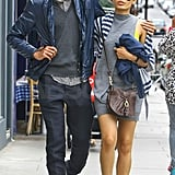Who knew Freida Pinto and Dev Patel were such the stylish couple? I'm feelin' their grays and blues . . .