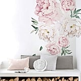 Simple Shapes Peony Flowers Wall Sticker