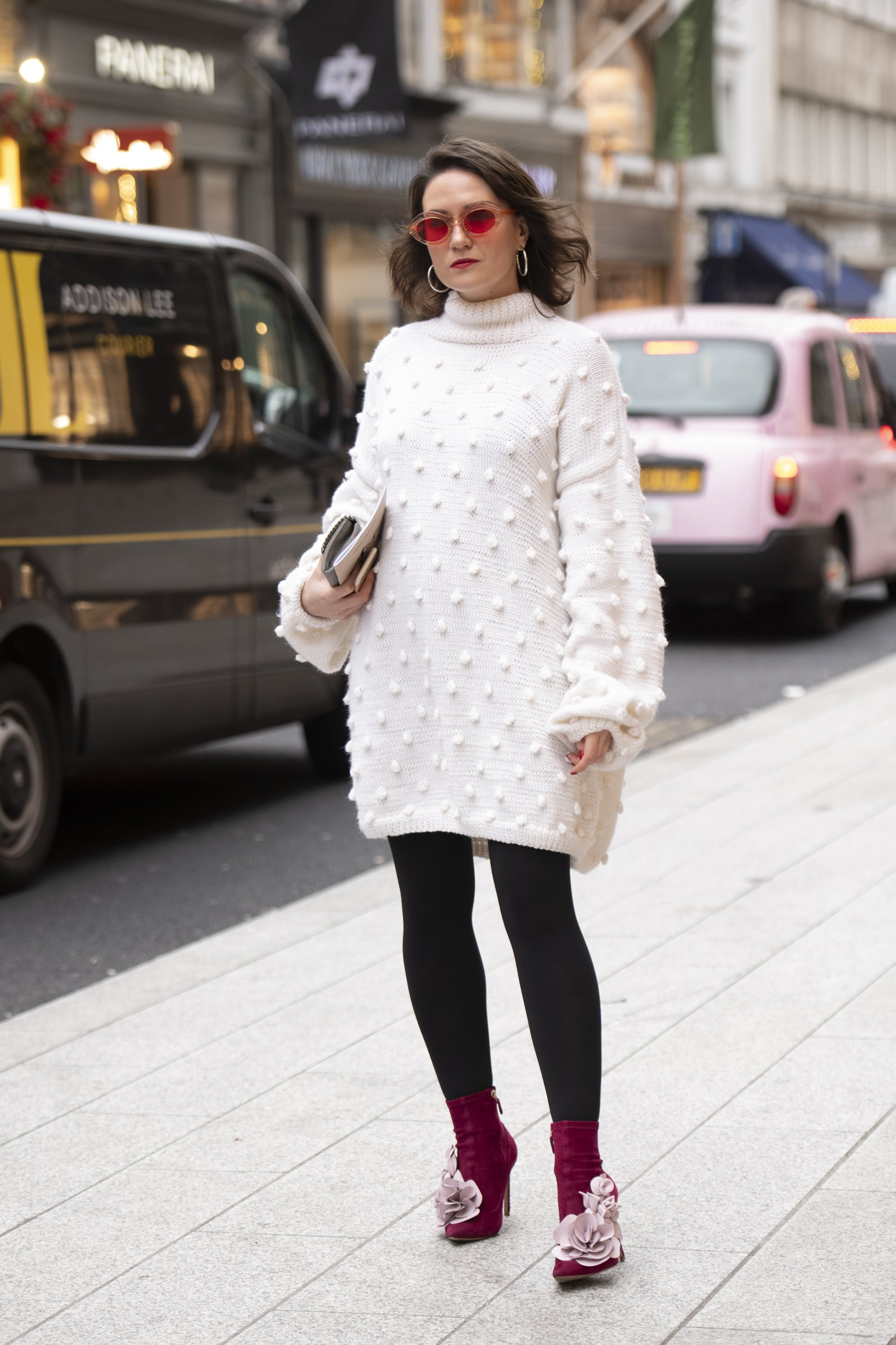 Layer Under a Sweater Dress and Finish With Sock Boots