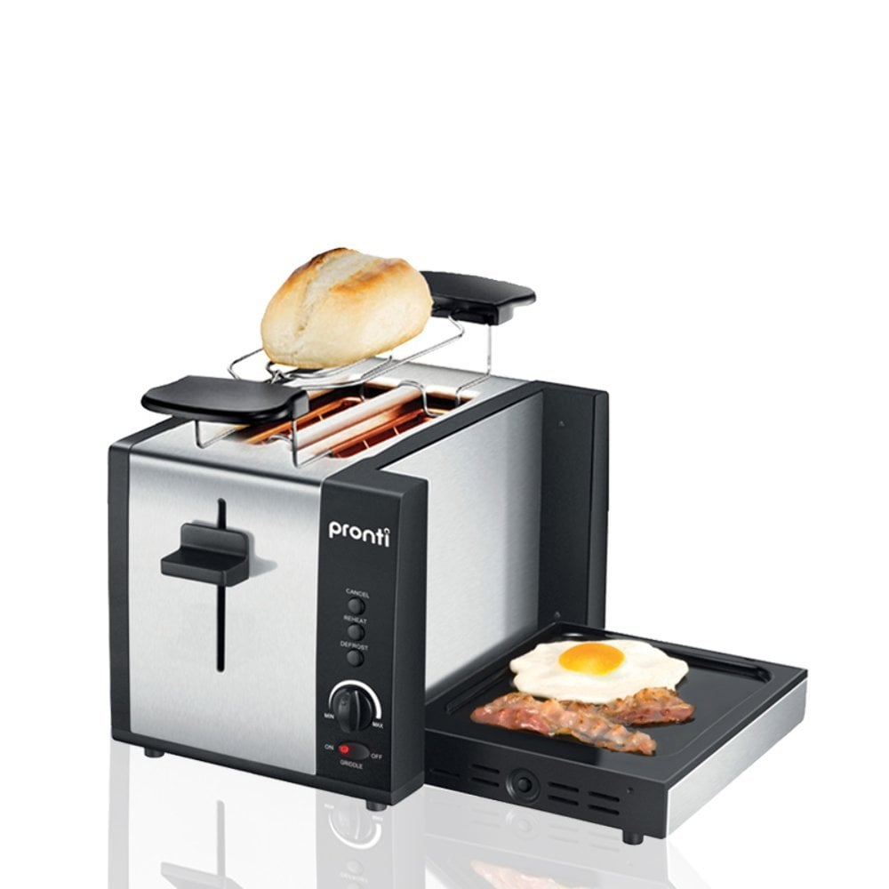 I mean, what space-saving, breakfast-loving genius thought this up? Pronti 2-in-1 Toaster ($79.95)