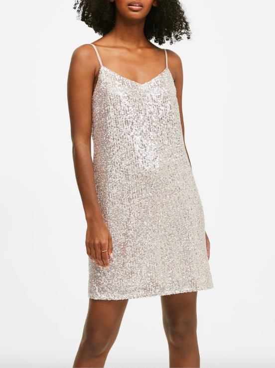 Petite Sequin Slip Dress