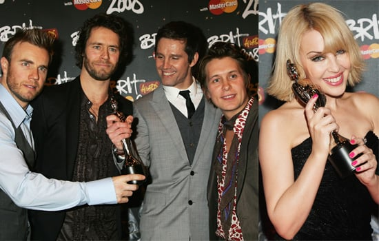 The Winners Of The 2008 Brit Awards