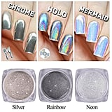 Qimyar Nail Chrome Powder Holo Silver Mirror Pigment
