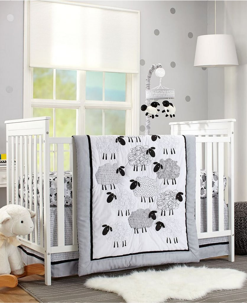 NoJo Good Night Sheep 4 Piece Crib Bedding Set