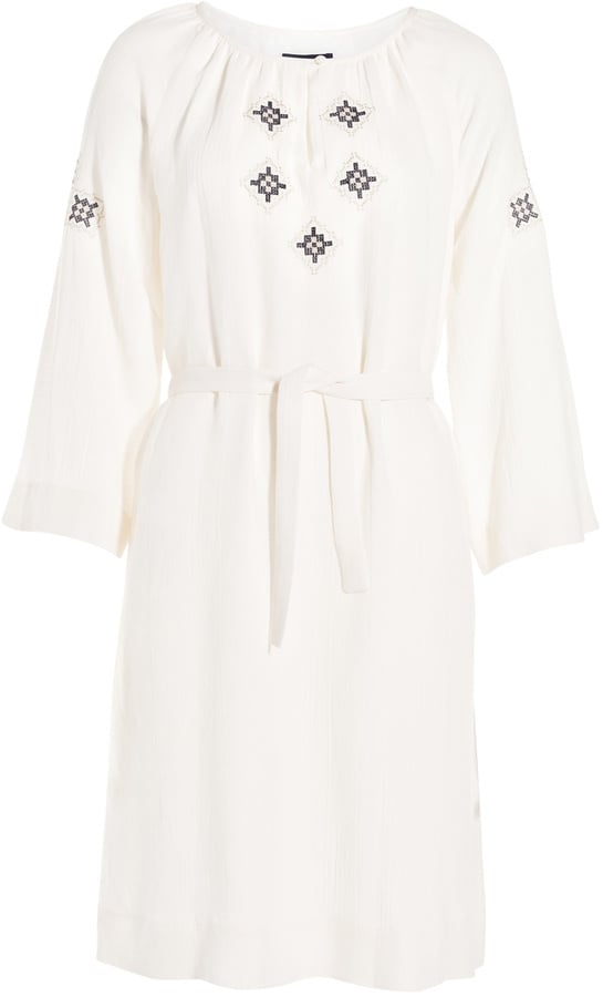 A.P.C. embroidered tunic dress ($440)