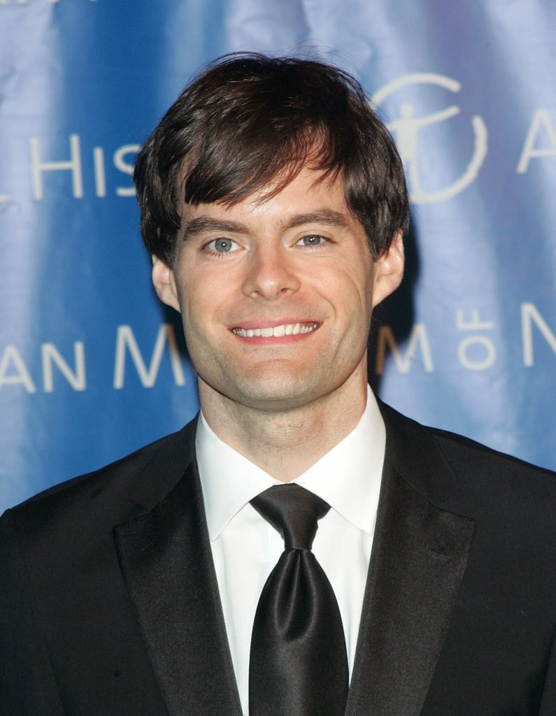 Bill Hader went with a long tie for his tuxedo.