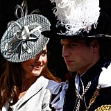 Kate Middleton and Prince William at the Order of the Garter service in June 2011.