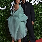 Rihanna and ASAP Rocky at the British Fashion Awards 2019