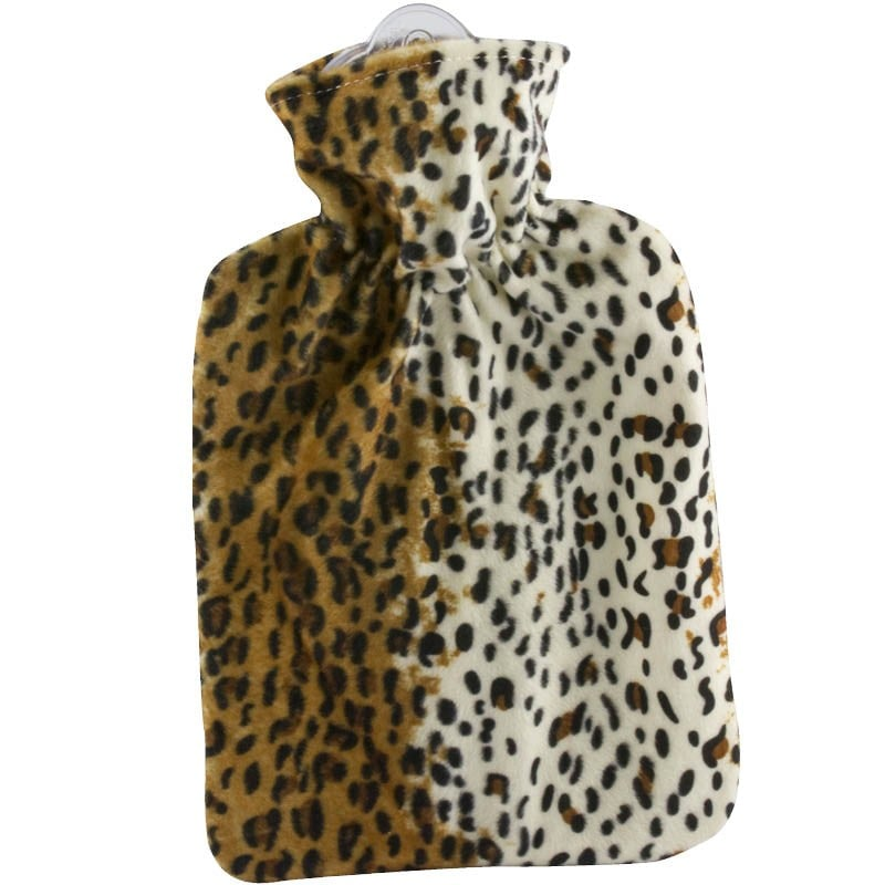 Hugo Frosch Hot-Water Bottle With Microfiber Cover in Leopard ($40)