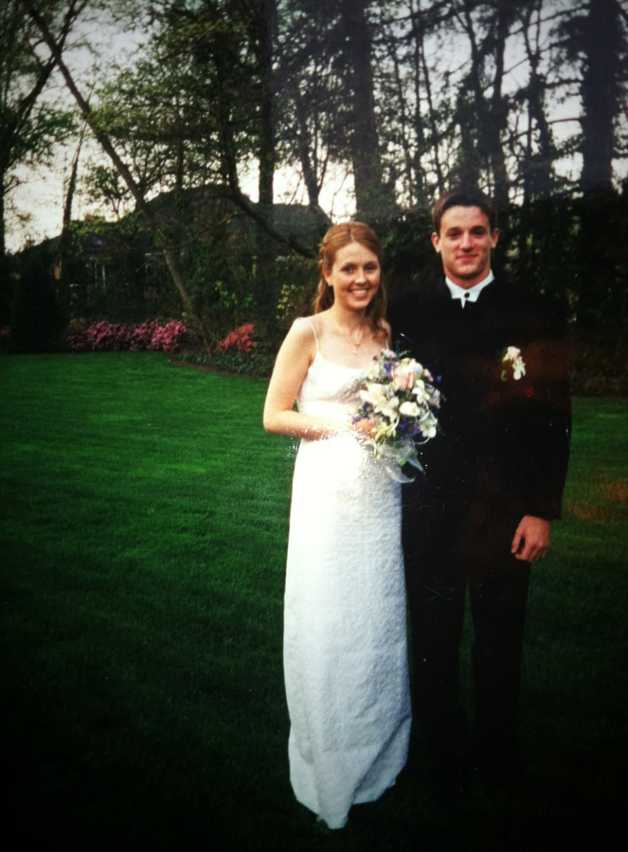 """""""I actually started working at Loehmann's in 2001 after I found this relatively simple Nicole Miller dress there. It worked out pretty well that my prom date — who's now on soap operas! — coordinated."""" — Allie Merriam"""
