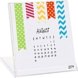 If she likes to get creative, this 2014 DIY calendar ($9) from Paper Source will let her skills shine. It comes with 12 printed calendar grids that she can decorate every month with supplies like washi tape, rosettes, twine, and more.
