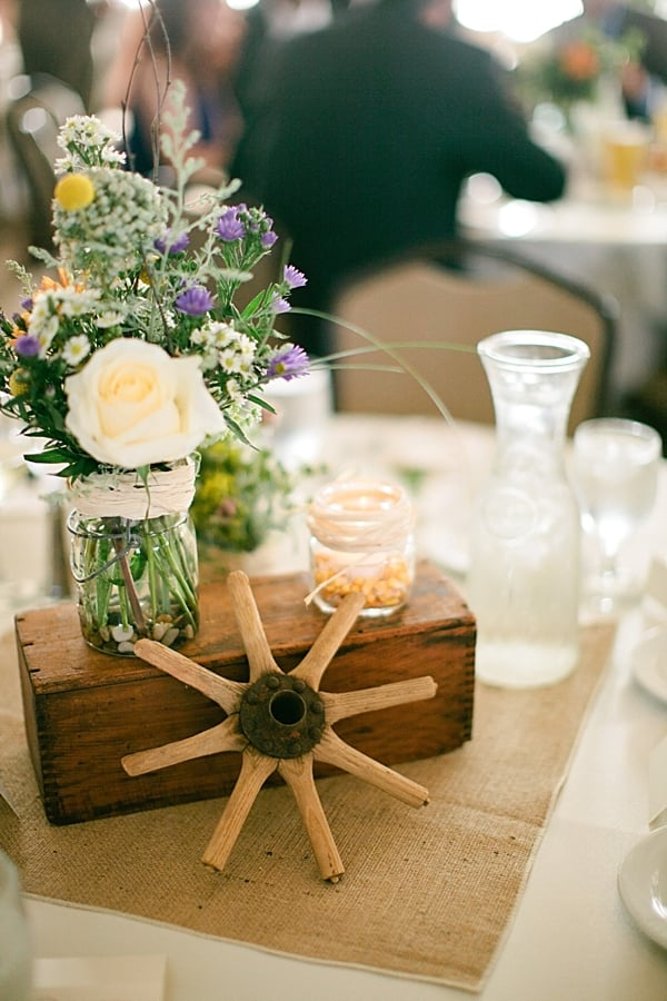 Wagon Wheel Centerpiece