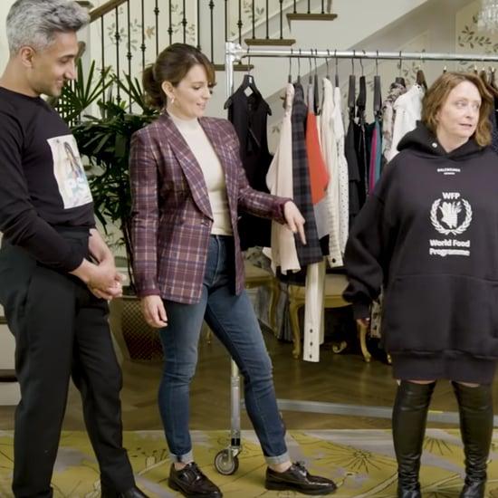 Tan France, Tina Fey, and Rachel Dratch Dressing Funny Video