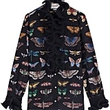 Gucci Butterfly Silk Shirt