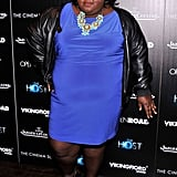 Gabourey Sidibe wore a blue frock.