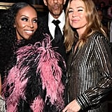 June Ambrose, Chris Ivery, and Ellen Pompeo at Diddy's 50th Birthday Party