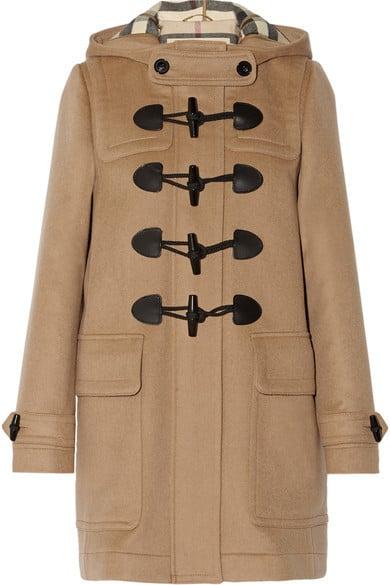 Burberry Hooded Wool-Felt Duffle Coat ($995)
