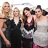 Pictured: Heidi Klum, Mila Kunis, Kristen Bell, and Kathryn Hahn
