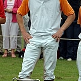 William Played in Some Charity Polo Matches