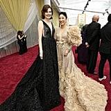 Geena Davis and Sandra Oh at the 2020 Oscars