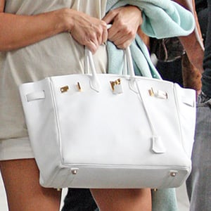 Guess Who is Carrying a White Hermes Birkin?