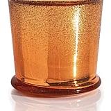 Pumpkin Dolce Glitz Glass Capri Blue Candle
