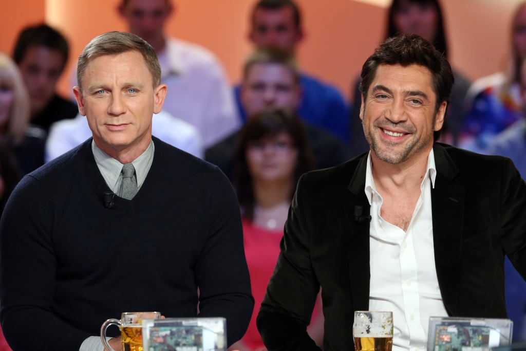 Daniel Craig and Javier Bardem promoted Skyfall at an event in Paris.