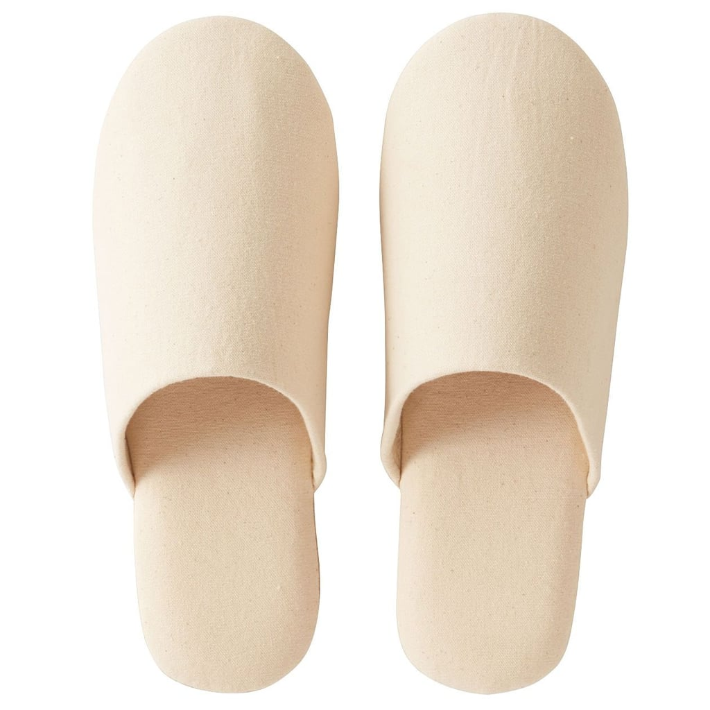 Muji Cotton Slippers Ecru