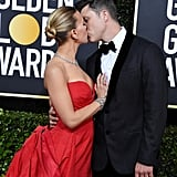 Scarlett Johansson and Colin Jost at the 2020 Golden Globes