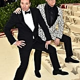 Pictured: Jimmy Fallon and Stephen Colbert