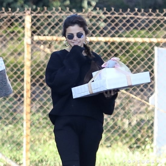 Selena Gomez Wearing Black Loafers