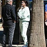A Hoodie and Matching Sweats in LA in May 2019