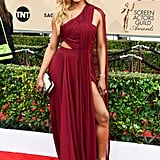 First, Laverne Cox turned heads in a slit and cutout Atelier Prabal Gurung gown.